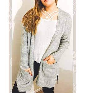 🎀Abercrombie & Fitch Heather Grey Cardigan 🎀
